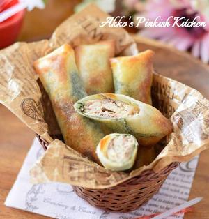 【おもてなし】トースターで簡単♡オイルサーディンの大葉チーズ春巻き
