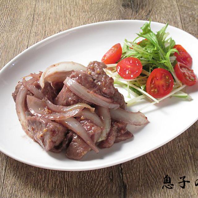 豚ロースの赤ワインマスタード煮