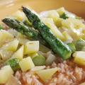 簡単!蟹のビスクスープで春リゾット!