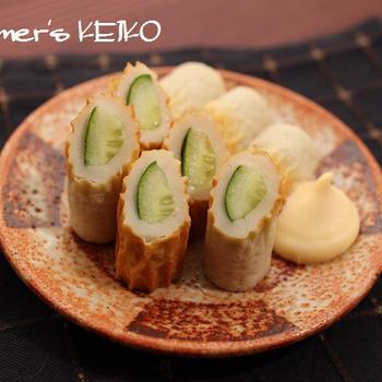 簡単すぎてゴメンナサイのレシピ。「ちくわきゅうり」&「ネギ坊主の天ぷら」
