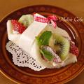 彩りフルーツのショートケーキ風サンドシナイッチ☆スイーツ感覚♪超簡単なサンドしないサンドイッチ by めろんぱんママさん