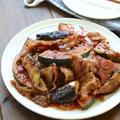 今日のレシピ*主菜『豚バラとなすとかぼちゃの生姜焼き』