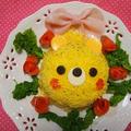 オムライスレシピコンテスト【ちらし寿司でくまさん♡デコオムライス風】 by とまとママさん