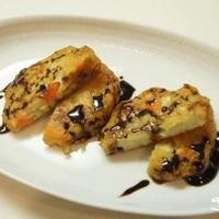紀文 野菜てんぷらとバルサミコソース