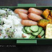 今日の中2男子弁当~粗挽きソーセージと梅きゅうり☆