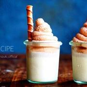 ♡混ぜて冷やして超簡単♡クリームonバナナプリン♡【#ゼラチン#ゼリー#お菓子】