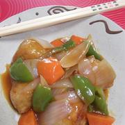 揚げずに作る★肉巻き豆腐 de 酢豚