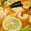 【塩レモン 海鮮トマト鍋】ブイヤベース風の和風塩レモン鍋