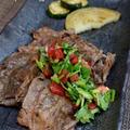 ◆牛ロース焼きにパクチーソースでおうちごはん♪