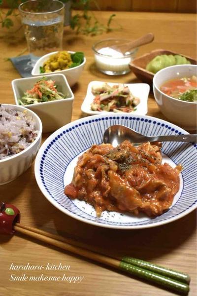 【レシピ】豚肉のトマトクリーム煮✳︎子供うけ抜群✳︎超簡単…30分待ってようやく購入〜