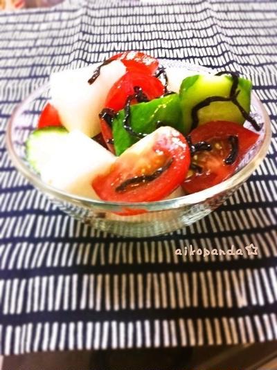 塩昆布×胡麻油=めちゃうま