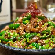 【レシピ】豚こま肉とピーマンのスタミナ炒め
