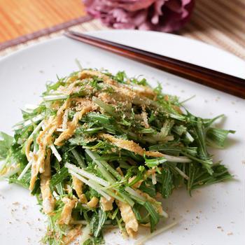 シンプルが故に旨い!邪魔しない!水菜の中華サラダ