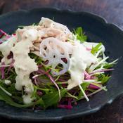 ツナと水菜のシャキシャキサラダ
