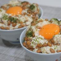簡単5分!【絶品☆納豆豆腐ごはん】忙しい朝でもしっかりごはんが食べられる!