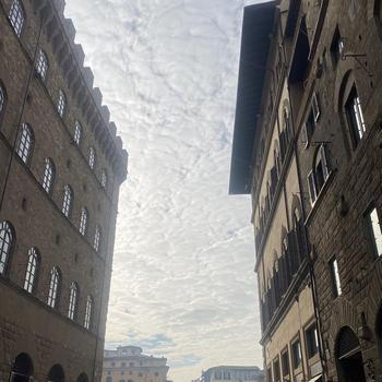 不気味な鱗雲とメルロー
