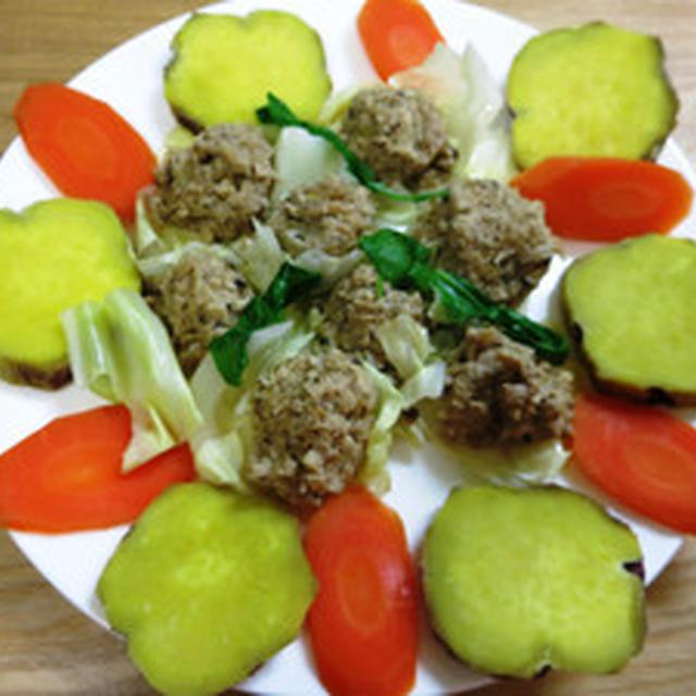簡単焼売&蒸し野菜