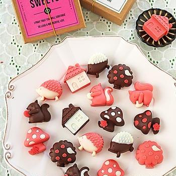 レンジチョコで簡単バレンタイン♪友チョコにピッタリかわいいナッツチョコ