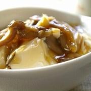 きのこのとろとろ豆腐丼 生姜風味