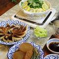 ◆パクチー鍋に庭のレモンをたっぷり使って♪~ゆるやか糖質制限中♪
