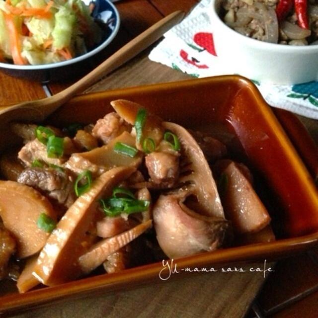 鶏肉と竹の子のニンニク生姜の甘辛煮〜作り置きおかず〜
