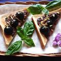 生チョコレートとクリームチーズとぶどうとピスタチオのせ最上級トースト