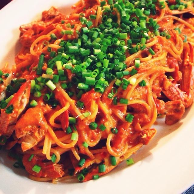 ワタリガニのトマトクリームスパゲティ・2012