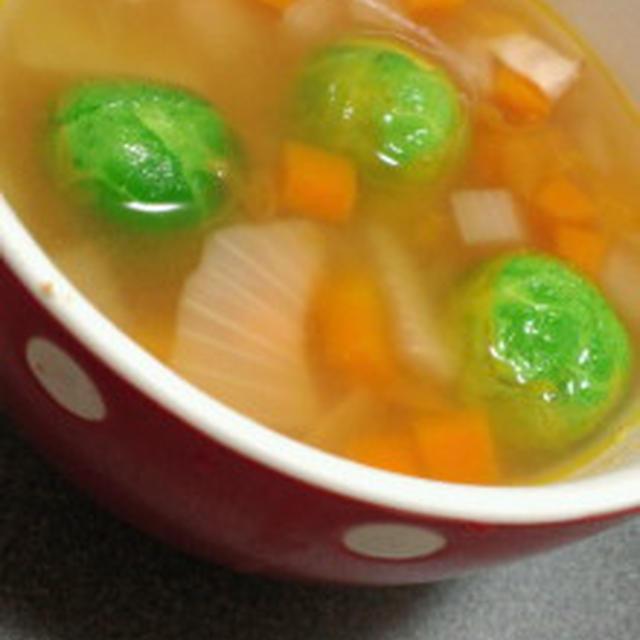 芽キャベツのごろごろ野菜スープ