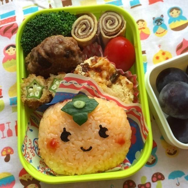 幼稚園弁当☆ 秋の味覚!柿(笑) キャラ弁