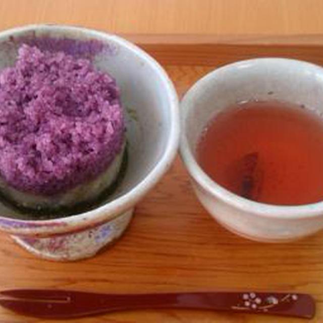 紫芋と抹茶のソルギ