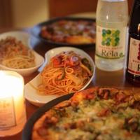 ピザとパスタのクリスマス