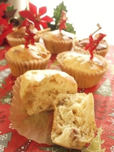 クリスマス仕様♪ノンオイル!ドライフルーツとヨーグルトのカップケーキ