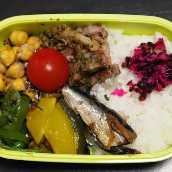 8月30日☆今日のお弁当は、バジルソースの豚肉ソテー弁当