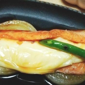 チーズ入り♪鮭のオーブン焼き**