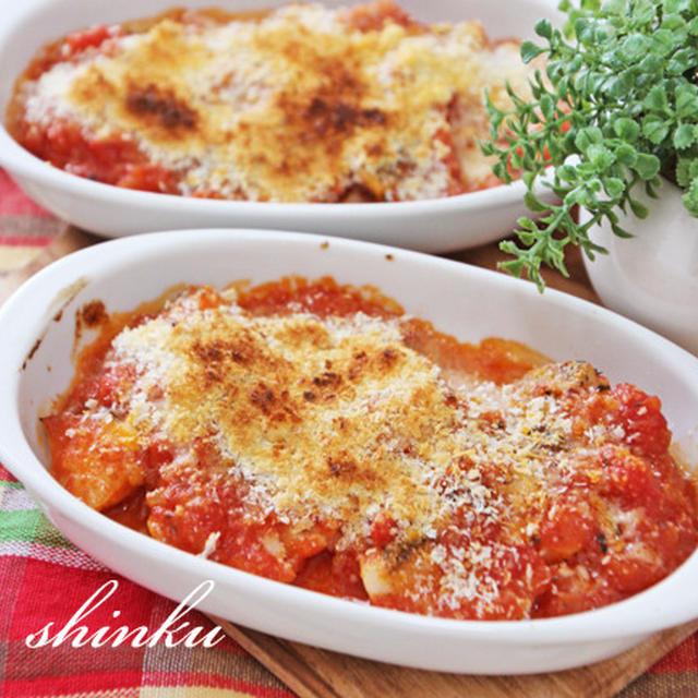 簡単*タラのトマト煮込みチーズ焼き
