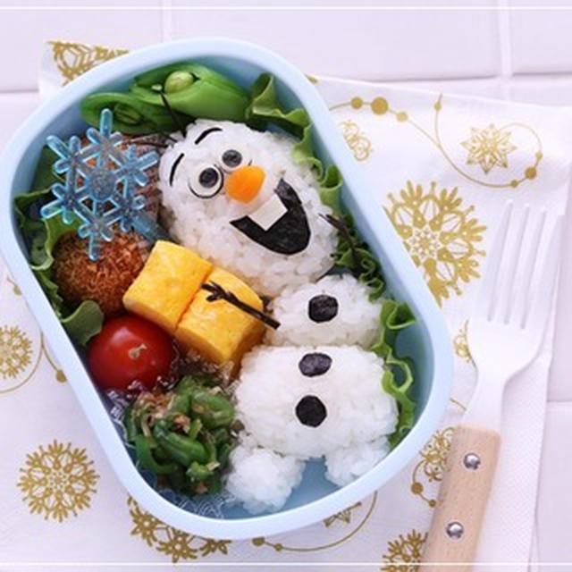 アナ雪 オラフのクリスマス弁当*キャラ弁レシピ