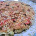 小麦粉・肉不使用☆ おからパウダーで、キャベツと紅生姜のお好み焼き