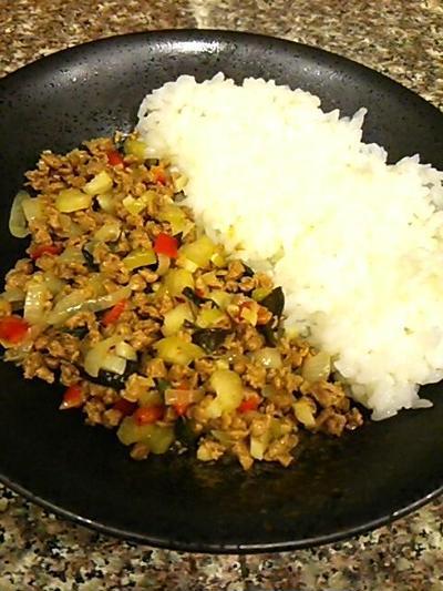 大豆のお肉でガパオライス