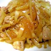 ピリ辛☆鶏もも肉と大根の千切り炒め