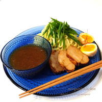 冷やしつけ麺はじめました!<ヤマキだし部>簡単♡めちゃウマ!Wスープのつけ汁でつけ麺