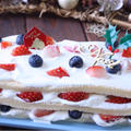 スポンジ生地で作るおしゃれなクリスマスデコレーションケーキのレッスン案内