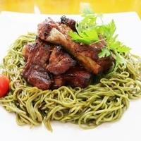 煮込み焼きスペアリブな焼き茶蕎麦~v(^0^)/