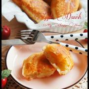 [捏ねない!発酵なし!] フライパンでアップルデニッシュ ~バナナもイケるよ~ と プレゼント