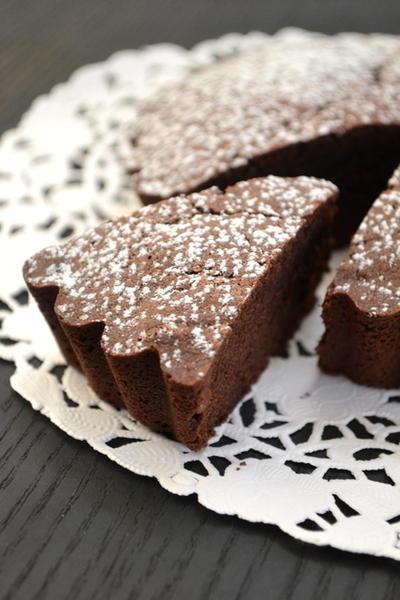 【レシピ公開】小麦粉、バター、白砂糖不使用のガトーショコラ!外はサックリ、中はしっとり
