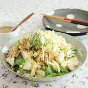 くずし豆腐の香味ごまドレサラダ
