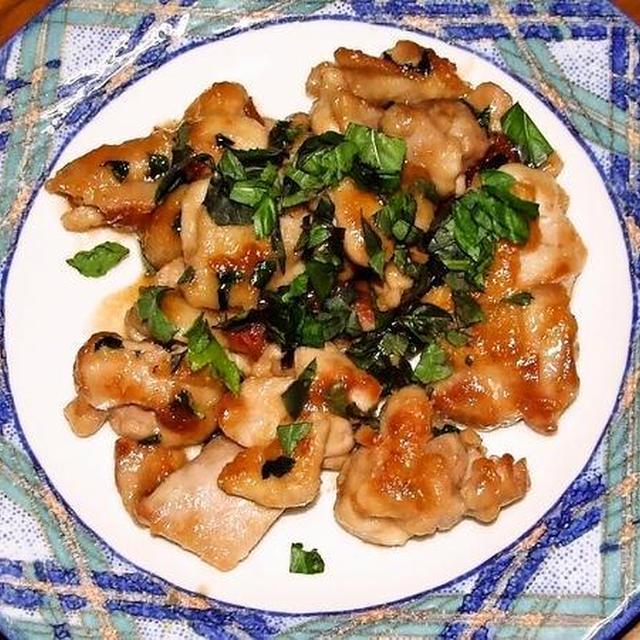 鶏の梅干し照り焼き&豆腐チャンプル