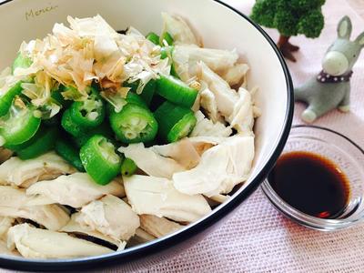 オクラささみ丼♡低カロリーで高タンパク質