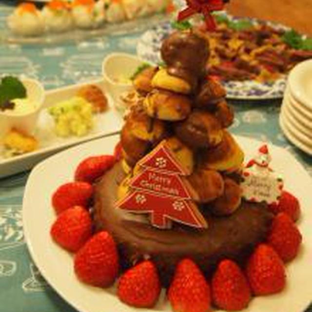 ミニシューのツリーケーキ