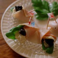 プルーンで健康美人♪バジル香るプルーンとポテトのハムまきサラダ