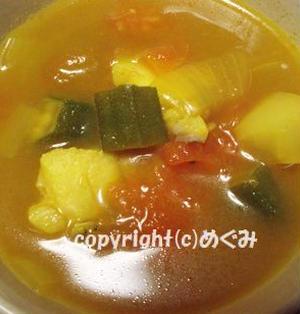 たらとにんにくのカレースープ